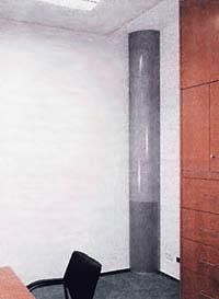 Рис. 5. Распределительный диффузор в помещении административного типа